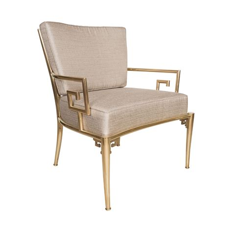 Single Armchair by Single Upholstered Brass Armchair Chairs Salibello