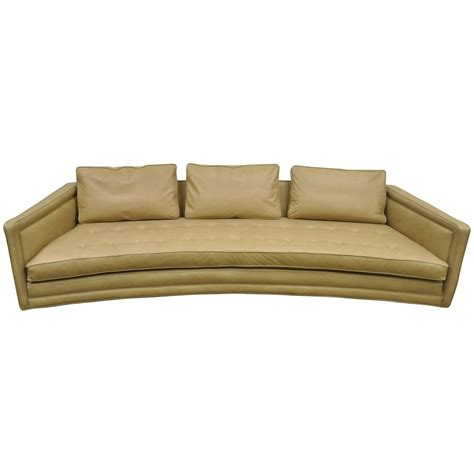 curved sofa for sale curved harvey probber button tufted leather mid