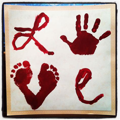 S Day Handprint Crafts Suede Sofa