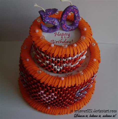 3d origami cake 3d origami birthday cake top view by artlover327 on
