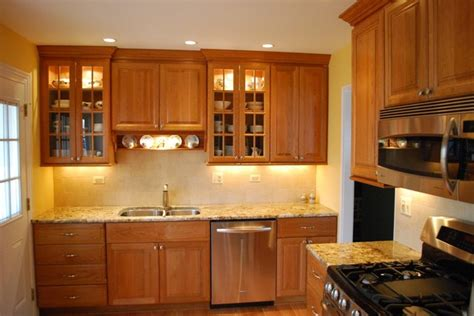 simple kitchens simple kitchen with rich cherry cabinets traditional