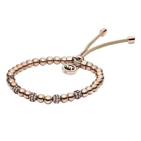 michael kors beaded bracelet uk michael kors gold plated set bead bracelet