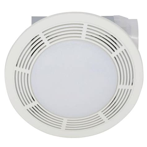 bathroom ceiling fan with light broan 100 cfm ceiling bathroom exhaust bath fan with light