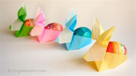 easy origami easter egg make an origami rabbit as an easter egg holder