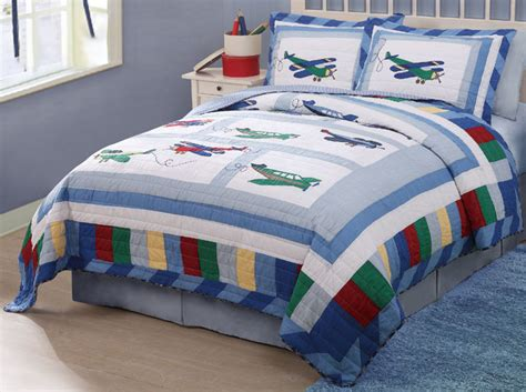 airplane bedding fly away plane airplane theme blue boys bedding quilt