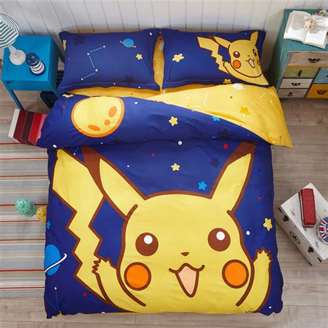 pikachu bed set boys pikachu bedding set child