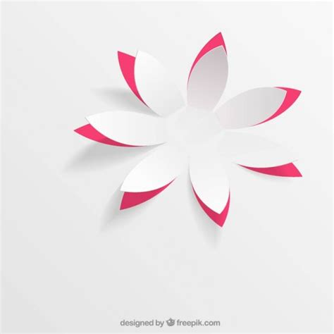 origami pop up flower paper flower in pop up style vector free