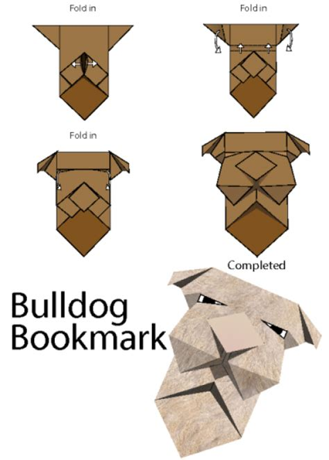 origami bulldog how to make origami bulldog bookmark kidspressmagazine
