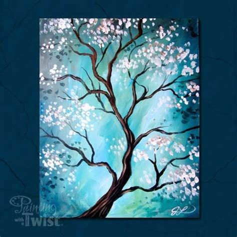 easy acrylic painting ideas trees best 25 wine and canvas ideas on beginner