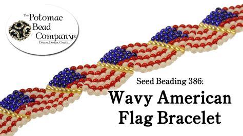 how to make american beaded bracelets seed beading 386 wavy american flag bracelet