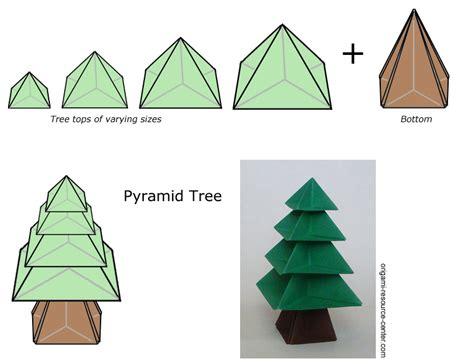 how to fold an origami tree pyramid tree