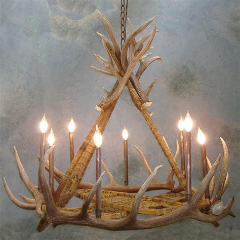 elk chandelier snowshoe elk antler chandelier