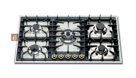 plaque de cuisson gaz 90 cm inox encastrable 5 feux gaz dont 1 foyer wok ilve ec ilv321