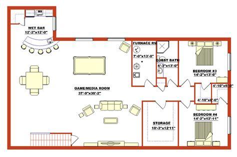 basement floor plan high quality finished basement plans 5 finished walk out basement floor plans smalltowndjs