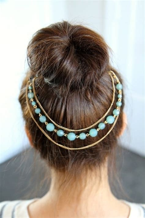 how to make hair jewelry accessorizing your hair bun styles be modish
