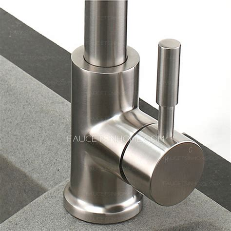 kitchen faucets high end high end stretch stainless steel brushed nickel kitchen