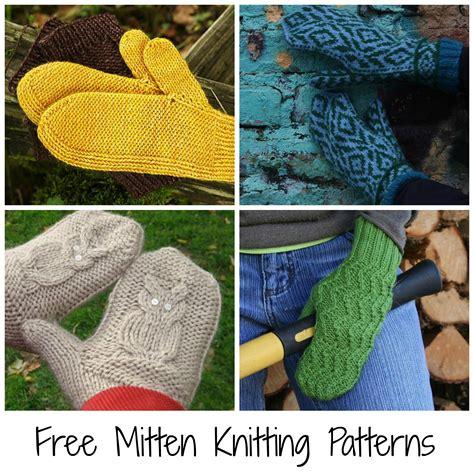 free knitting patterns to 10 free mitten patterns to knit