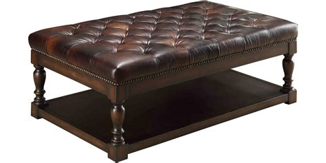 ottoman coffee table modern leather tufted ottoman coffee table great furniture