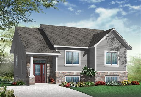 split house plans small split level home plan 22354dr 1st floor master suite cad available canadian metric