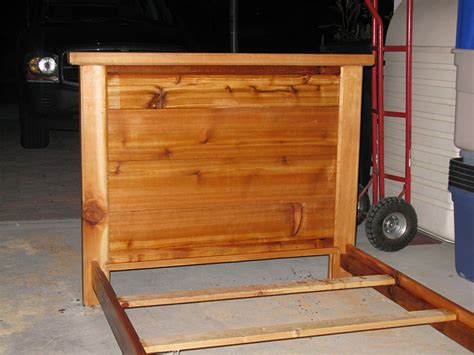 woodworking projects bed frame cedar bed frame by brianarice lumberjocks