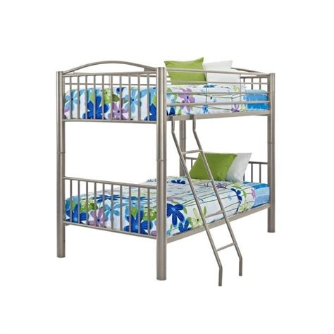 powell bunk bed powell heavy metal bunk bed in pewter 941 138