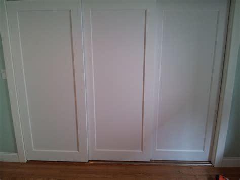 tracks for sliding closet doors simple sliding closet doors three panel roselawnlutheran