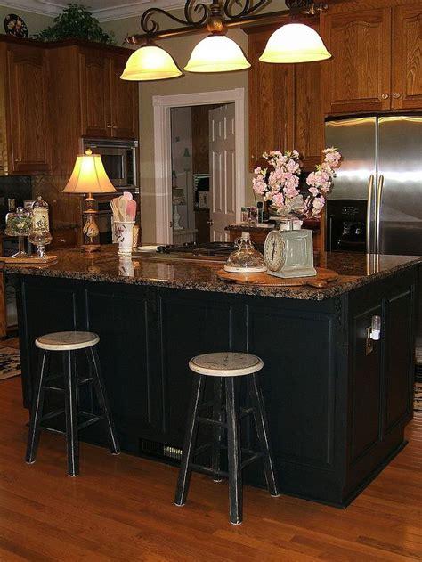 paint kitchen island painting an oak island black hometalk