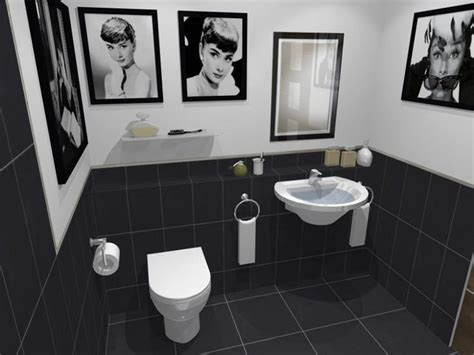Black And White Themed Bathroom by 17 Best Images About Bathroom On Black Tiles