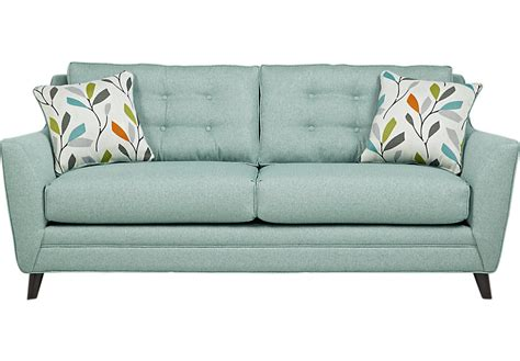 sofa height cobble heights teal sofa sofas green
