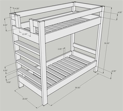 dimensions of bunk beds bunk bed plans dimensions plans free pdf