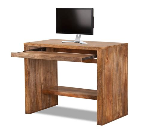computer desk table solid mango wood computer desk casa handcrafted