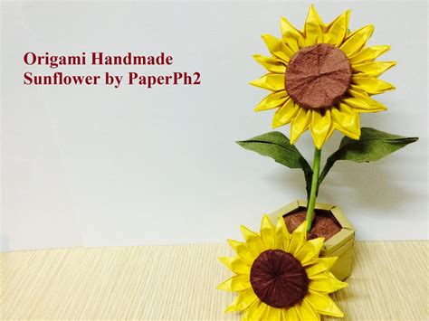 3d origami sunflower origami handmade origami sunflower part make sunflower