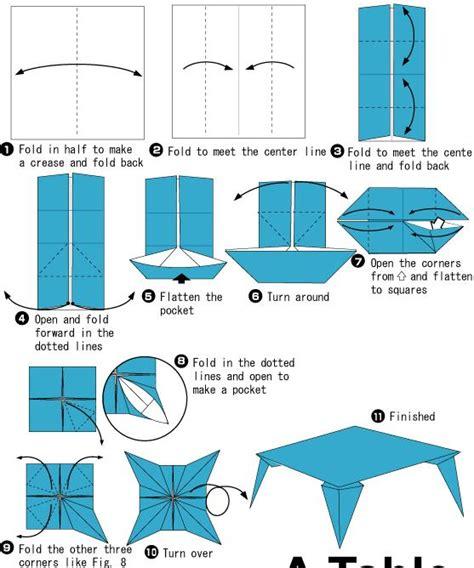 how to make origami table 手工制作儿童简单折纸小桌子教程 幼儿折纸 查字典幼儿网