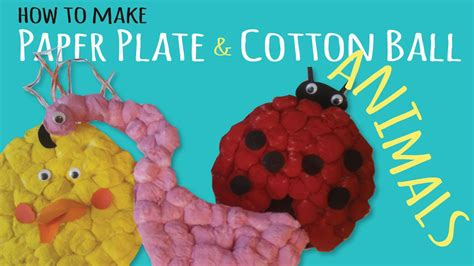 how to make craft how to make fluffy paper plate animals simple