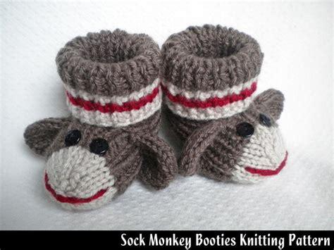 baby socks knitting pattern sock monkey baby booties monkey socks and knitting patterns