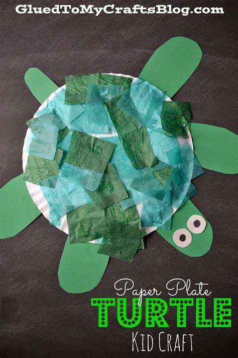 turtle paper craft paper plate turtle kid craft
