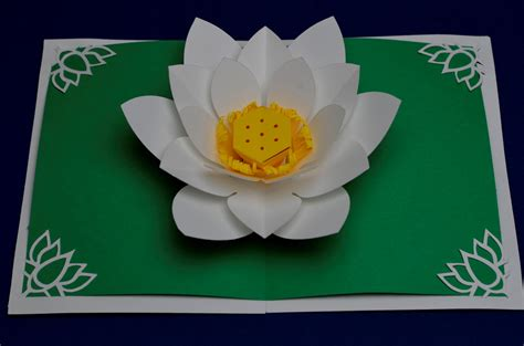 how to make flower pop up cards lotus flower pop up card template