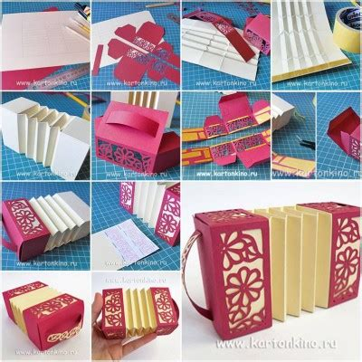 paper craft tutorials how to make paper harmonica box step by step diy tutorial