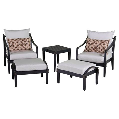 patio chair and ottoman set rst brands astoria 5 patio club chair and ottoman