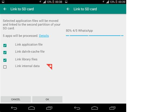 make apps to sd card how to use link2sd to expand memory of android