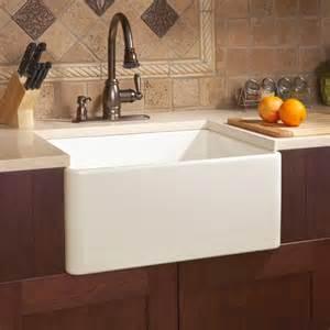fireclay kitchen sinks 26 quot baldwin fireclay farmhouse sink smooth apron