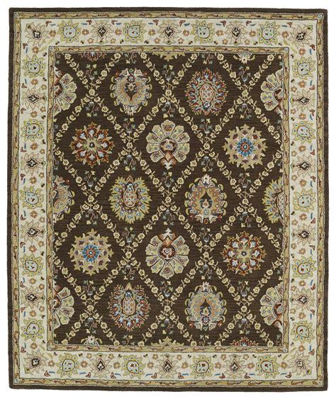 kaleen area rugs kaleen taj taj03 40 chocolate area rug