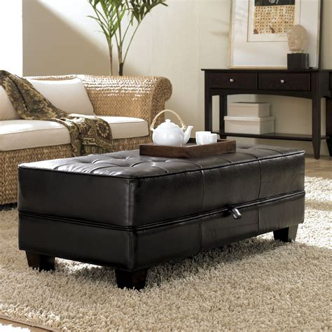 cocktail storage ottoman living room awesome cocktail storage ottoman for living