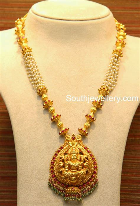 picture pendants jewelry lakshmi necklace with pearls jewellery designs