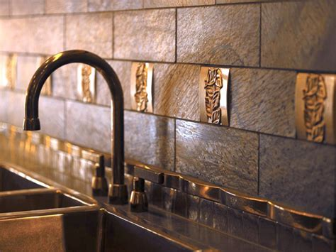 metal kitchen backsplash kitchen backsplash tile ideas hgtv