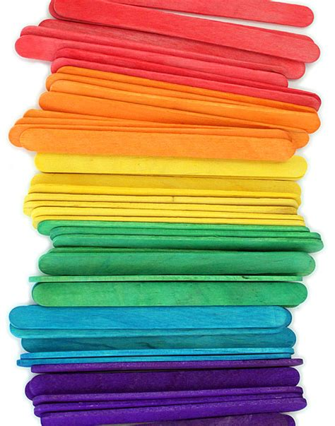 with craft sticks multi colored craft sticks