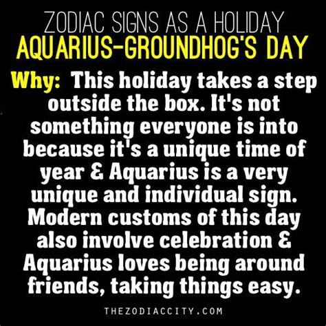 Zodiac Signs As A Aquarius Groundhog S Day