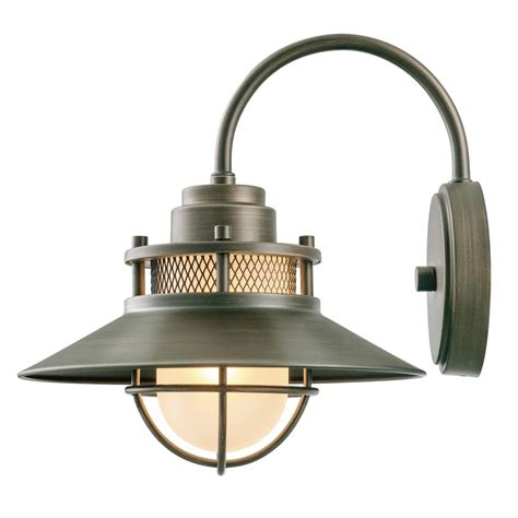 home depot outdoor wall lighting globe electric liam collection 1 light bronze outdoor wall