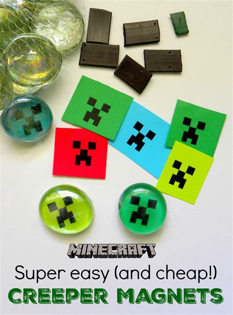 magnet crafts for easy minecraft creeper magnets kerryannmorgan