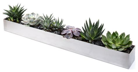 modern indoor planters veradek geo trough planter modern indoor pots and